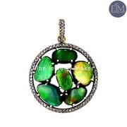 Pave diamond Pendants Supplier