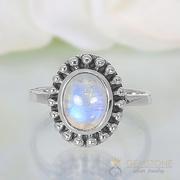 Moonstone Ring Royal Fortune