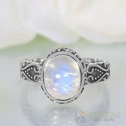 Moonstone Ring Sparkling Moonshine