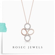 4 Open Circle Pendant Necklace