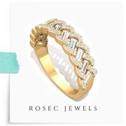 Half Eternity Braided Diamond Ring
