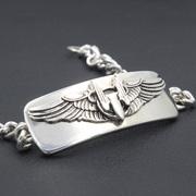 Mens Us Army Air Force Aerial Gunner wing Sterling Silver Bracelet