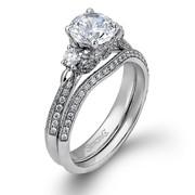White 18 Karat 2 Piece Engagement Mounting Ring SKU: LP2076-379753
