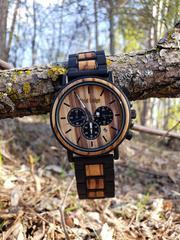 Hand made modern outdoor men wood watch